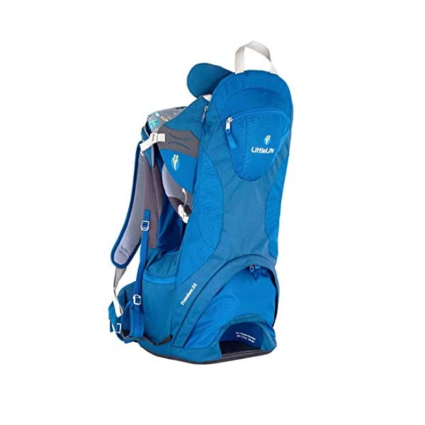 "LittleLife Unisex's Freedom S4 Child Carrier (blue) Back, One size LittleLife Anatomically shaped child seating area, with neck support and soft face pad Includes rear view mirror, sun shade and Foot stirrups Suitable for adults 1.57 - 1.87M/ 5'2"" - 6'4"" 1"