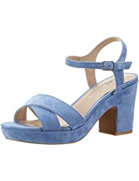 Buffalo London Damen 316-3373 Kid Suede Knöchelriemchen