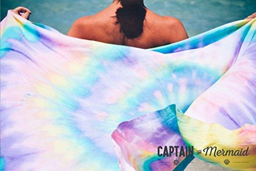 Captain & Mermaid Strandtuch Batik Beach Towel Dip Dye Tropical Punch Boho (Dye-trend Dip)