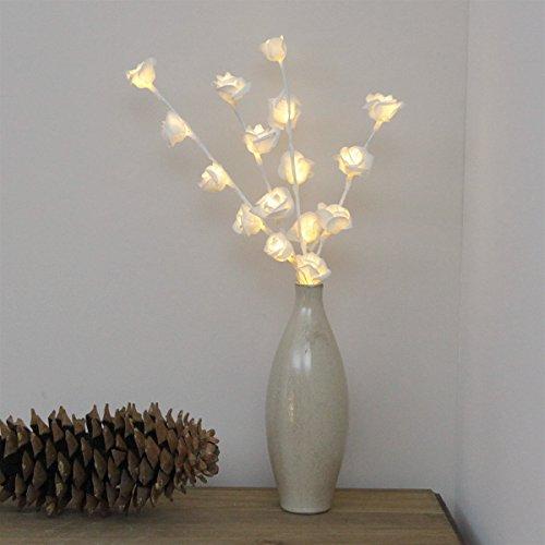 Rosen Strauß Zweig Lichter mit Timer, 16 LEDs warmweiß, von Festive Lights