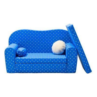 Gepetto Maxi Kindersofa blau ausklappbar plus extra Kissen - mit Liegefunktion als Gästebett