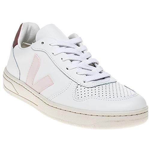 VEJA V10 Leather Femme Baskets Mode Blanc
