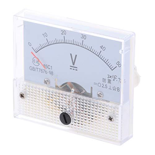 B Blesiya Dc Rechteck Amperemeter Stromtester Analog Panel Voltmeter, Messbereich 0-5 V bis 0-600 V - 0-50 V 50v Analog