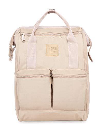 HotStyle MOREPURE 239s Fashion Blumen Damen Laptop Rucksack 14 Zoll (44x27x17cm), Khaki