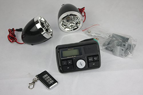 Motorrad Alarmanlage Radio Lautsprecher Mp3 Player Usb Anschluss Roller Mofa Quad