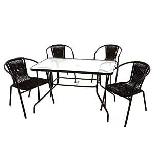 nexos 5 teiliges gartenm bel set gartengarnitur sitzgruppe sitzgarnitur aus. Black Bedroom Furniture Sets. Home Design Ideas