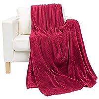 Luxury 2724295800401 Coral Plush Blanket, King/220x240 cm, Red, H32.6 x W42.4 x D15.2 cm