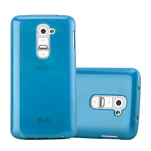 Cadorabo custodia per lg g2 mini in turquoise - morbida cover protettiva sottile di silicone tpu con bordo protezione - ultra slim case antiurto gel back bumper guscio