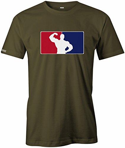Bodybuilding Logo - Sport - Herren T-Shirt in Army by Jayess Gr. XL (Company T-shirt Logo)