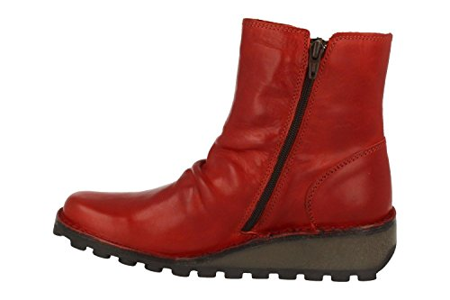 FLY London Damen Mong944fly Stiefel Rot (Red)