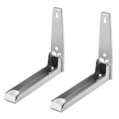 zearo-2-pcs-stainless-steel-foldable-stretch-shelf-rack-microwave-oven-wall-mount-bracket