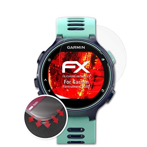 atFoliX Schutzfolie passend für Garmin Forerunner 735XT Folie, entspiegelnde & Flexible FX Bildschirmschutzfolie (3X)