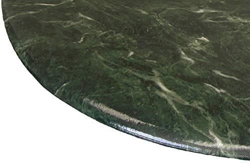 ke rund 91,4cm zu 121,9cm Elastic Edge Spannbettlaken Vinyl Tisch Cover Florentine Marmor Muster Jade Grün ()