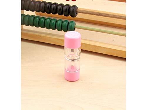 ADream Mini Kreative Brillenetuis Kontaktlinsenetuis Sets für Harte Linsen/RGP-Linsen Bulk (Weiß) (Farbe : Pink) - Rgp-linsen