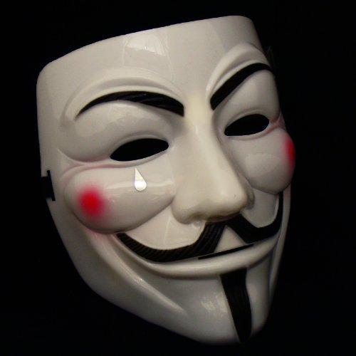 1 X Anonymous V For Vendetta Guy Fawkes Kostüm Maske Gelb Cream (Kinder Guy Fawkes Kostüm)