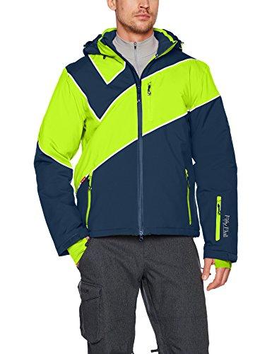 Fifty Five Extrem Skijacke für Herren Saint Andrews Blau Grün S Warme Snowboard Jacke Winterjacke