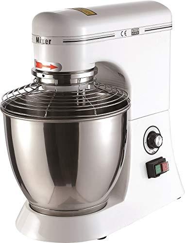 Combisteel gastro Küchenmaschine 330W Hohe Leistung Knetmaschine Hohe Leistung Profi Knetmaschine, 6-stufige und 7 Liter-Rührschüssel Geschwindigkeit Teigmaschine