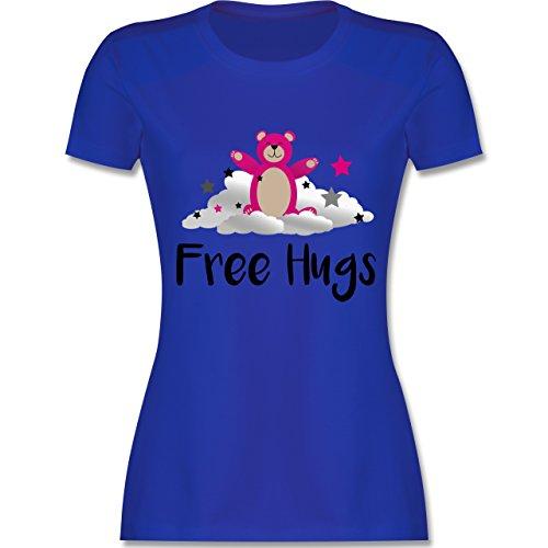 Comic Shirts - Free hugs - tailliertes Premium T-Shirt mit Rundhalsausschnitt für Damen Royalblau