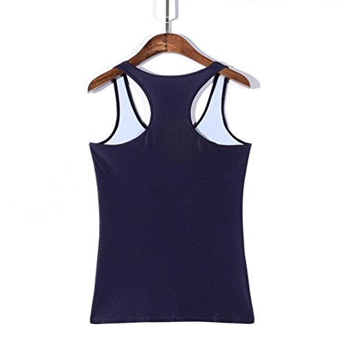 JTC Femme Débardeur Imprimé Veste T-shirt Tops de Sport Sans Manche Gilet D'été Multicolore Taille Unique bateau
