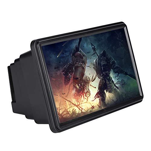 VBESTLIFE 3X Zoom Phone Bildschirmlupe Halter Optische Vergrößerung Handy Lupe,geeignet für Indoor, Camping, Reisen, etc.(Schwarz)