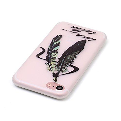 inShang iPhone 7 Hülle 4,7 inch [Transparent iPhone 7 Cover] [Luminous im Dunkeln], Ultra Schlank und leicht TPU Bequem Schutzhülle Rückcover (Back Case) design 10