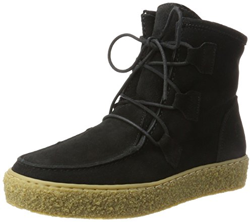 Ca'Shott Damen A18110 Mokassin Boots, Schwarz (Abominable Suede), 37 EU
