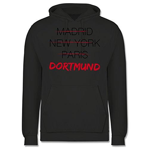 Städte - Weltstadt Dortmund - Männer Premium Kapuzenpullover / Hoodie Dunkelgrau