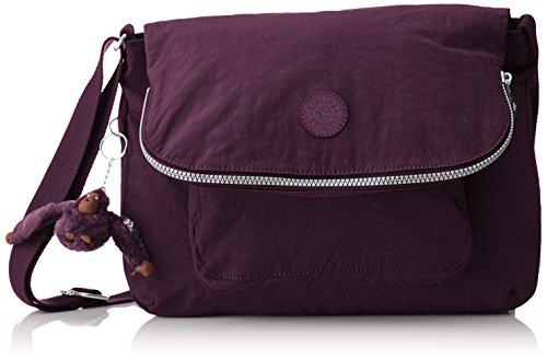 Kipling Damen Garan Schultertasche, Violett (Plum Purple), 17 x 35 x 25.5 cm (Plum-handtasche)