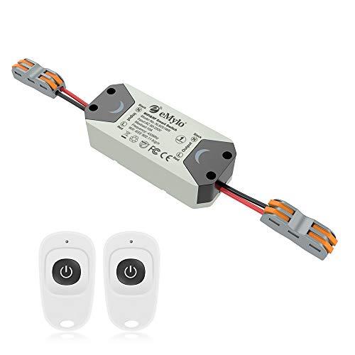 eMylo Smart WiFi Interruptor de luz RF Módulo de relé de control remoto inalámbrico 220V 1 canal Temporizador Aparato doméstico 433Mhz Soporte Alexa/Google Home Assistant/IFTTT por teléfono