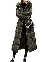 Kaimus Femme Doudoune Manteau Longue Hiver Manteau Outwear avec Capuche  Fourrure Doudoune Femme Zippé Longue Duvet 306c475f893b