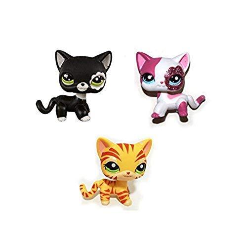 Pet Shop Juguetes LPS Raras de pie Forma máscara de Gato de...