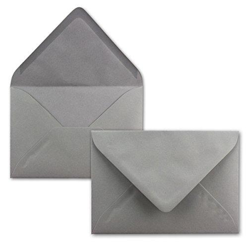 25x Briefumschläge B6 17,5 x 12,5 cm - Dunkelgrau - Nassklebung mit spitzer Klappe - 120 g/m² - Für Hochzeit, Gruß-Karten, Einladungen