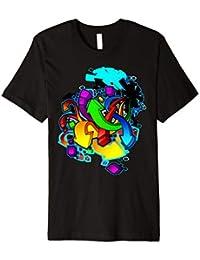 Mode Kurzarm Frauen Fitness T Shirt T-shirt 3d Farbe Drucken Pop Mädchen Kleidung Tattoo Graffiti Mädchen Harajuku Top T Oberteile Und T-shirts T-shirts