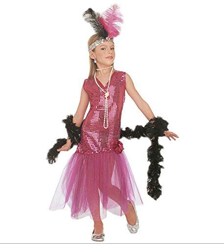 Dance Charleston Kostüm - Widman Kleines Mädchen Kostüm von Charleston Dance, 5/7 Jahre, ideal für Karneval Verkleidungen und Themenpartys.