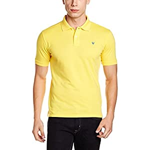 Allen Solly Men's T-Shirt (8907587727226_AMKP317G04241_Small_Spinus Yellow)