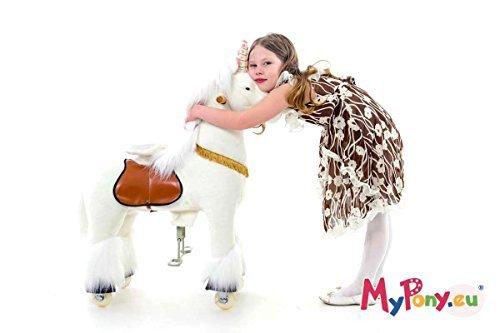 """Ponycycle """" Sternschnuppe """" Einhorn, Pony auf Rollen fahrendes Schaukelpferd und Kuscheltier für Ihr Kind von MyPony (Small)"""