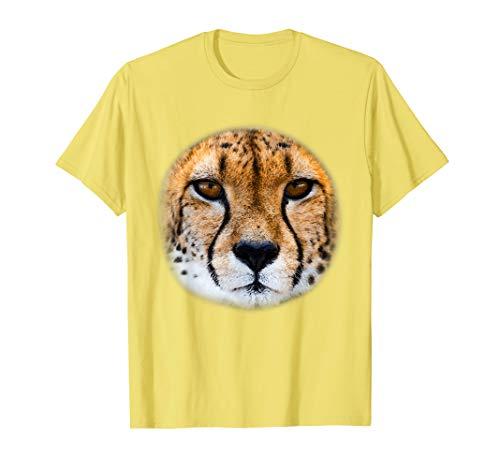 Real Cheetah Gesicht Kostüm Lustiges Halloween Geschenk T-Shirt (Cheetah Kostüm Kinder)