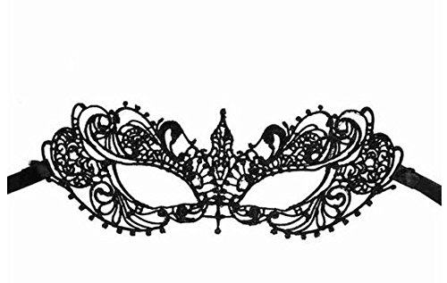 westeng westeng von venezianischen Attraktive Frauen Maske schwarze Spitze Augenmaske für Halloween Maskerade Karneval Party Maske Tanz (negro9) (Hausgemachte Kostüme Für Erwachsene)