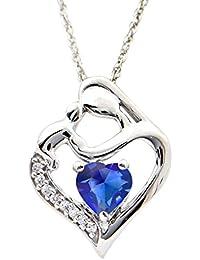Silver Dew CZ Diamond Rhodium Plated On Pure 925 Sterling Silver Women Girls Heart Love Valentine Pendant