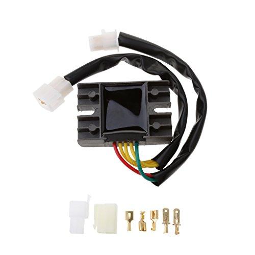 Sharplace Kit de Rectificador Regulador de Voltaje Recambios para Motocicletas Suzuki GN...