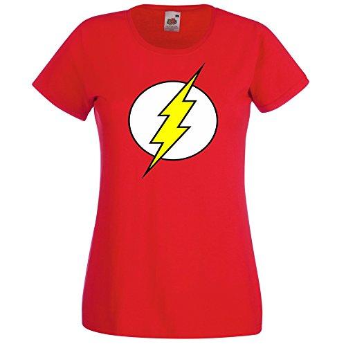 TRVPPY Damen T-Shirt Modell Flash Farbe Rot Größe S