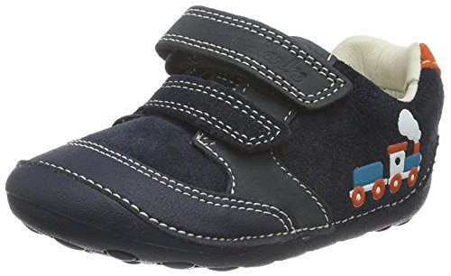 Clarks Baby Jungen Tiny Tom Krabbel-& Hausschuhe, Blau (Navy Leather), 21 EU