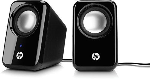 HP 2.0 (BR367AA) Mulitmedia Lautsprecher (USB-Anschluss, 3,5-mm-Audiobuchse, 1 Watt, 150 Hz - 20 KHz) schwarz (Hp Lautsprecher Für Computer)