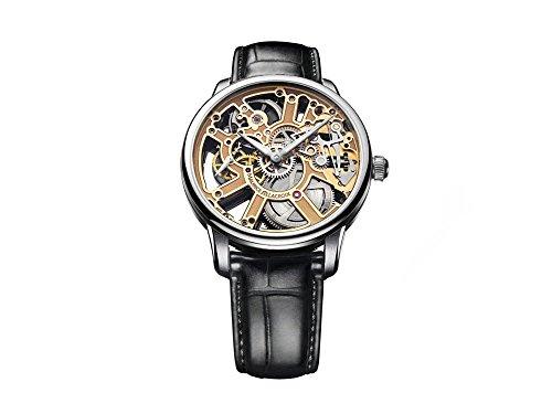 Maurice Lacroix capolavoro scheletro orologio, ML134, coccodrillo, mp7228-ss001-001-1