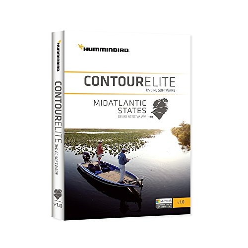 LAKEMASTER 600044-1 Humminbird Contour Elite, cema1 Mid Atlantic Staaten Angeln-gps-software