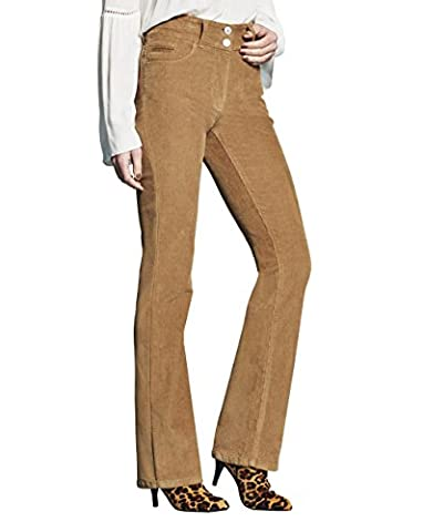 Womens Cord Bootcut Jeans in Camel