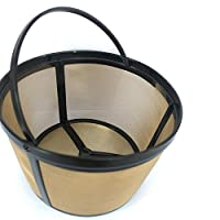 Fanxing Coffee Filter 12-16 Cup Basket Style Permanent Gold Tone Coffee Filter For Mr. Coffee Cup Coffeemakers