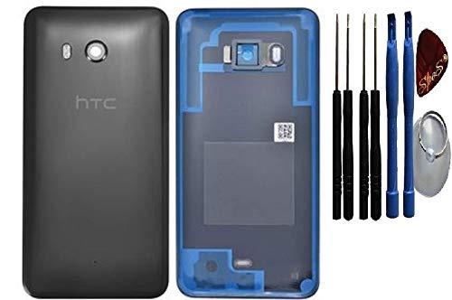 Original Akkudeckel für HTC U11 Back Cover Gehäuse Schale Glas Schwarz Kamera Linse/Werkzeug Back Cover Gehäuse