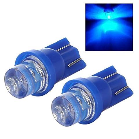 Licht - SODIAL(R) 158 168 194 2825 W5W T10 LED Kontrollampe Blaues Licht fuer Garten Haus Auto 12V DC 2 Stueck