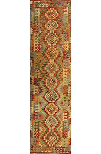 Mollaian passatoia kilim 293 x 78, kilim kaudani melange, colori sono naturali e vegetali, 2 anni garanzia